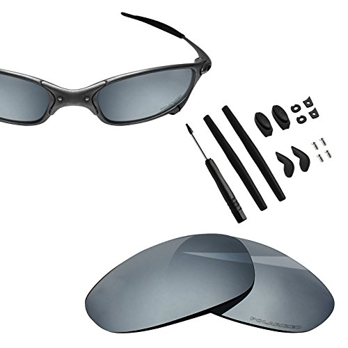 BlazerBuck Anti-salt Polarized Replacement Lenses & Sock Kit for Oakley Juliet - Silver Chrome