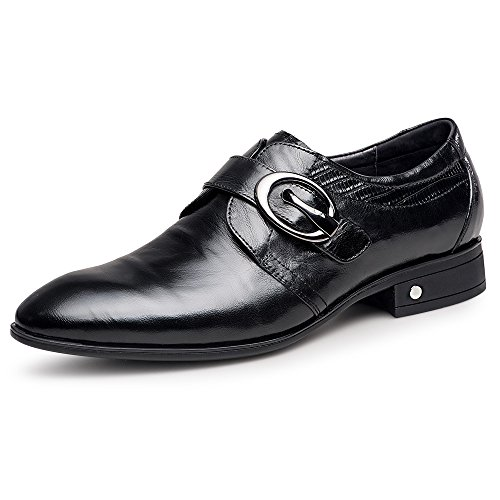 ZRO Men's Black Oxford Formal Business Dress Shoes with Buckle 8 M US by ZRO (Image #1)