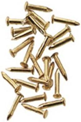 Dollhouse Miniature Brass Mini Nails 1//8 in Long