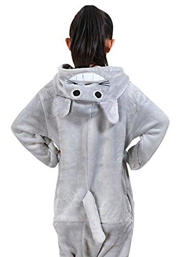 [Gillbro Onesies Kigurumi Pajamas Unisex Child Animal WOW Cosplay Costume,My Neighbor Totoro,125cm] (Totoro Costume Girl)