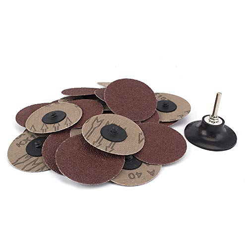 - 25 Piece 3 inches 40Grit Roloc sanding Disc Quick Change Sanding Discs Heavy Duty and Durable Sander - Automotive, Tools & Equipment, Body Repair Tool