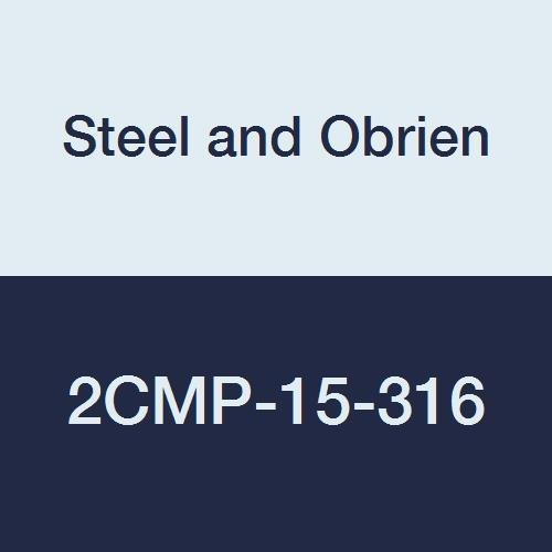 Steel and Obrien 2CMP-15-316 Stainless Steel Clamp, 90 degree Elbow, 1-1/2