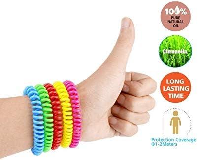 Pour enfants et adultes voyage Vivibel camping Bracelet anti-moustiques 12 pi/èces