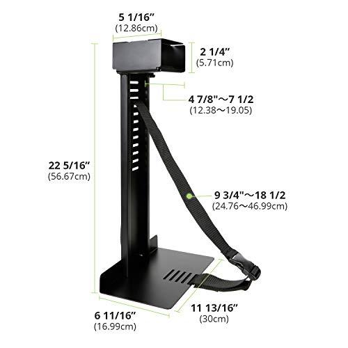 Eureka Ergonomic Computer Cart Height-Adjustable Mobile CPU Stand Suitable for Standing Desk Converters Black by Eureka Ergonomic (Image #6)