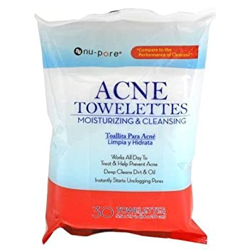 Nu-Pore Acne Cleanser Towelettes (Clearasil) Case Pack 24