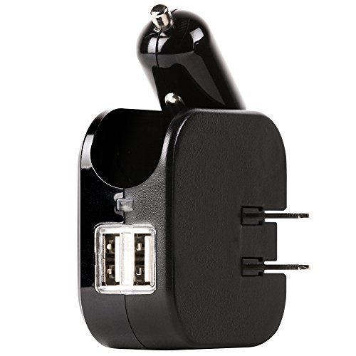 Gear Aid 2 Amp Dual USB Wall and Car Charger