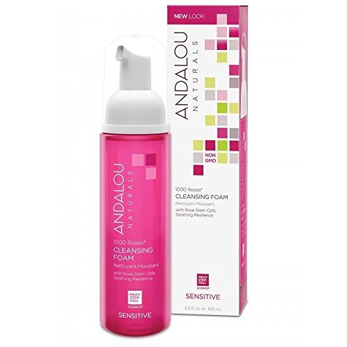 Andalou Naturals 1000 Roses Cleansing Sensitive Foam, 163 mL