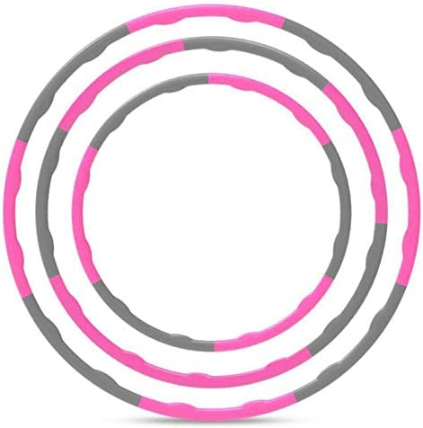 Hula Hoops for Adults Weight Loss, Adjustable & Detachable Length Hoola Hoop Plastic Toys for Kids Adults Party Games, Weighted sport Hoop for Exercise and Fitness for Adults and Home Workout (pink) 7