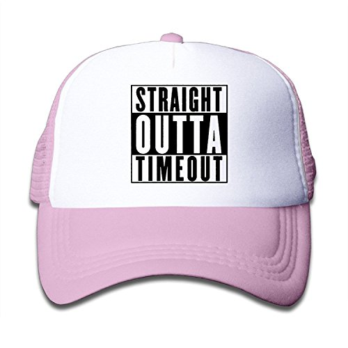 Waldeal Youth Straight Outta Timeout Adjustable Trucker Hats Sun Visor Cap Pink (Toddler Party Hat)