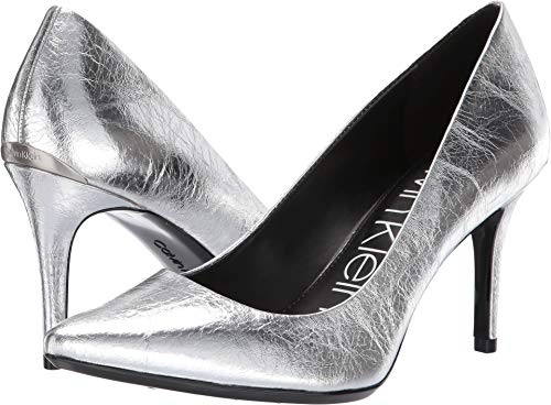 Calvin Klein Women's Gayle Silver Thrill Metallic 10 M US ()