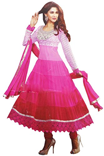 [Semi Stitched Anarkali Salwar Kameez Indian Ethnic Party Wear Dress Bollywood Costume] (Bollywood Costume Party)