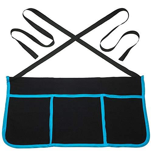 Kicko 3 Pocket Apron – 1 pc Waiter/Waitress Apron – Half-Length Apron with Pockets – Perfect Workwear, Cooking, Gardening or Halloween -