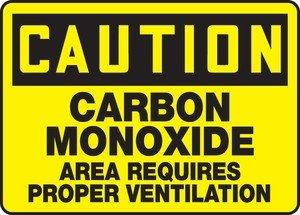 caution carbon monoxide area requires