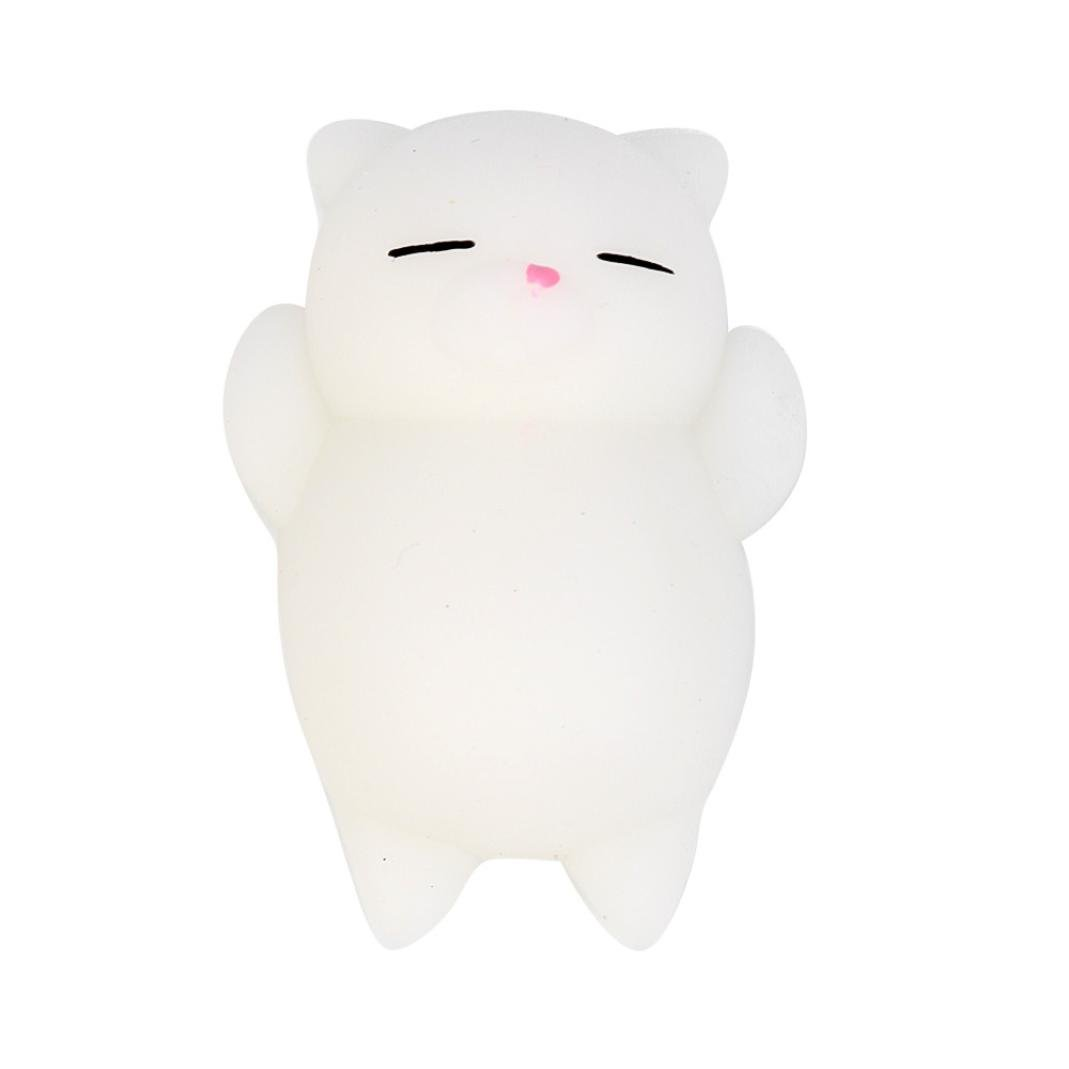 Kawaii Slow Soft Rising Squishy Squeezen Dingding Cute Mini Cat Fidget Toy Stress Reliever Kids Toy Gift Raptop (C)