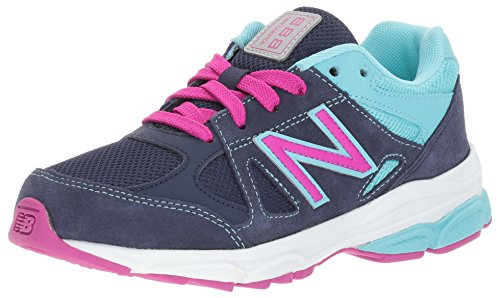 New Balance Girls' KJ888, Blue/Purpl, 3 Medium US Little Kid (New Balance Tennis Shoes For Kids)