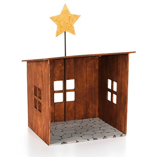 Darice Holiday Nativity Wood Kit-Stable with Star (1 Pack) (Nativity Stable Small)