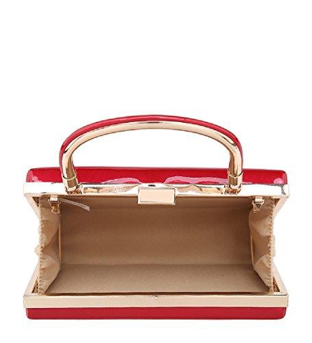 Handle Party Women's Patent Handbag Designer MA34869 Top Ladies Beige Clutch Bag Evening Swpqnt4nR