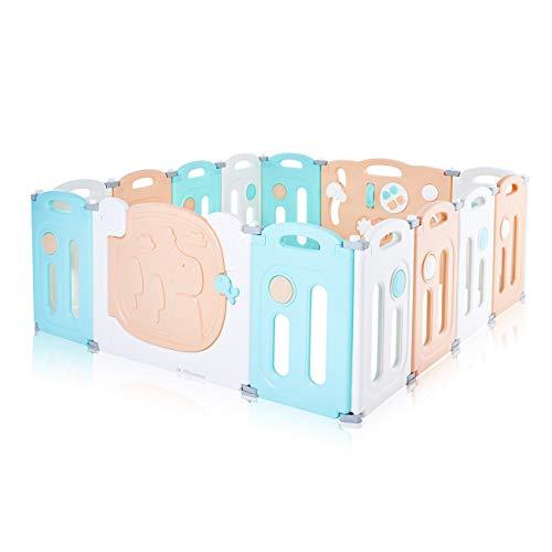 Baby Vivo Baby Box Tweelingbox Opvouwbaar Kruipbox Krabbelpark Speelbox Veiligheidshek voor kinderen Kunststof met deur…