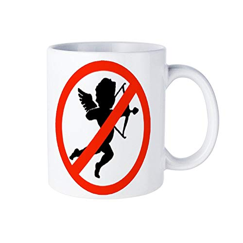 I Hate Valentine's Day Shoot Down The Eros Fun 15-ounce coffee mug: unique ceramic for any occasion, for men and women who like cups and coffee cups