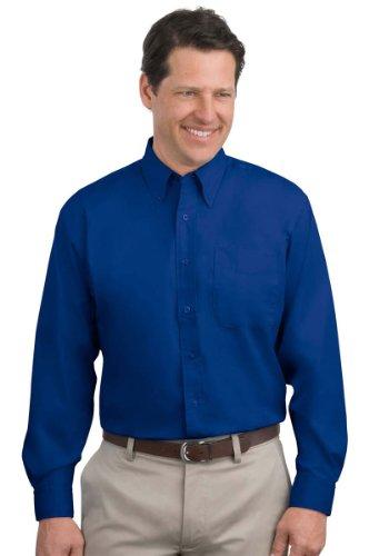 Port Authority S608 Long Sleeve Easy Care Shirt - Royal/ Classic Navy - XXXX-Large