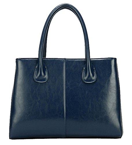 Bag Body SAIERLONG Shoulder Cross Handbag Women's Tote Single Cow Bag Cyan Leather wwIBqS