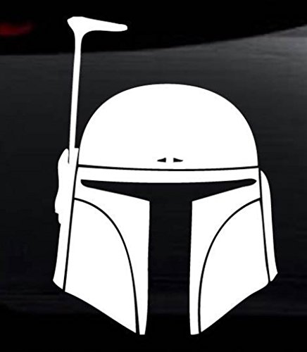 Star Wars Boba Fett Vinyl Decal Sticker for Car Automobile Window Wall Laptop Notebook Etc.... Any Smooth Surface Such As Windows Bumpers | 5 In | (Force Unleashed 2 Costumes Ps3)