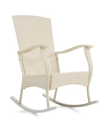 Discount Outdoor Or Indoor Wicker Rocking Chair With Steel Frame, in ...