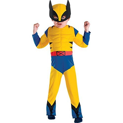 Disguise Marvel Wolverine Toddler Muscle Costume, Small/4-6 by Disguise Costumes (Wolverine Muscle Costume)