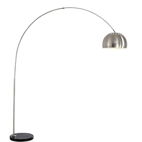 Lámpara De Pie LED Giratoria Ajustable Nordic Acero ...