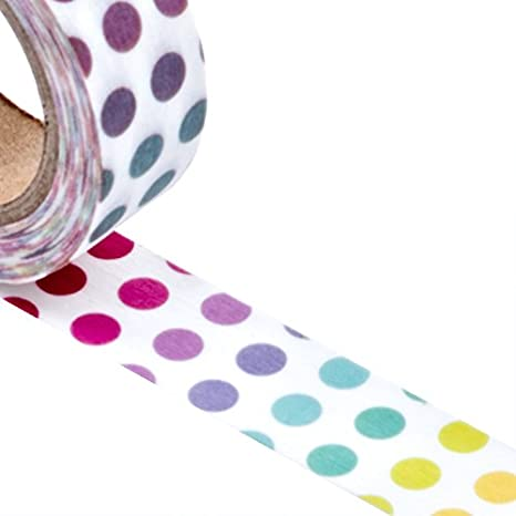 9//16 X 10 Yards Multi Colored Polka Dots Washi Tape