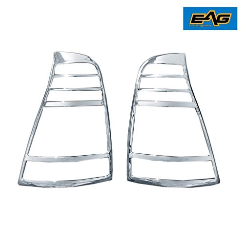 - EAG Chrome Taillight Lamp ABS Cover Bezel Trim Kit Fit for 2003-2009 Toyota 4Runner