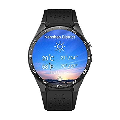 LePan Smart Watch Activity Tracker Camera Bluetooth Speaker Heart Rate Monitor MTK6580 Touchscreen GPS Pedometer Customized Water Resistant Metal Dial Smart Wristband For Android IOS Smartphones Gold
