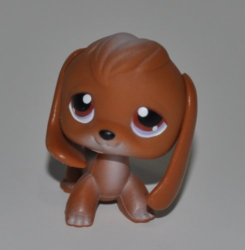 Beagle #16 (Brown, Brown Eyes, magnet in paw) - Littlest Pet Shop (Retired) Collector Toy - LPS Collectible Replacement Figure - Loose (OOP Out of Package & Print)