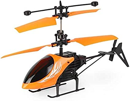 Remote Control Helicopter Flying Toys Blue Boys Girls Indoor Outdoor Games Mini Led Rechargeable Hand Operated Drone with LED Light for Kids