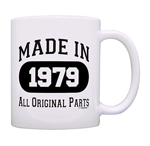 40th Birthday Gift Made 1979 40th Birthday Party Decorations Gift Coffee Mug Tea Cup White ()