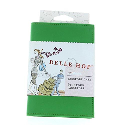 Belle Hop Green Tea Leather Passport Case Holder Belle Hop Passport Case