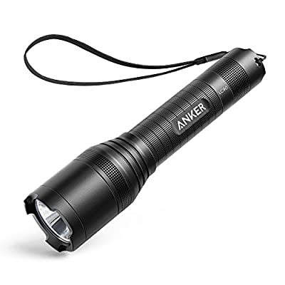 Anker Bolder LC90 LED Flashlight, IP65 Water-Resistant, Zoomable, Rechargeable, Pocket-Sized Torch (for Camping and Hiking) with Super Bright 900 Lumens CREE LED, 5 Light Modes, 18650 Battery Included
