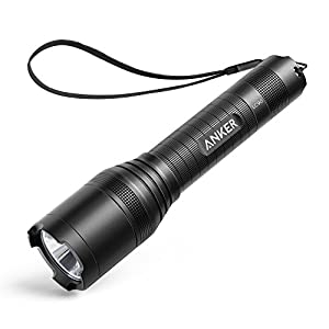 Anker AK T1420011 Super Bright Tactical Flashlight, Rechargeable (18650 Battery Included), Zoomable IP65 Water Resistant, 900 Lumens CREE LED, 5 Light Modes for Camping and Hiking, Bolder LC90