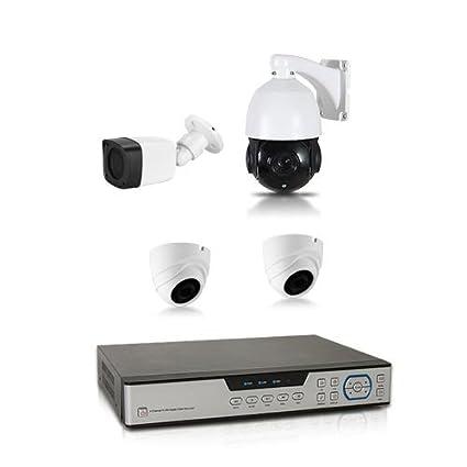 Kit de video vigilancia 1 TB con 4 Cámaras 700 líneas Dont 1 Cámara PTZ