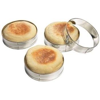 Fox Run 4 Pc English Muffin Crumpet Biscuit Cookie Rings Cutter Set Egg Pancake