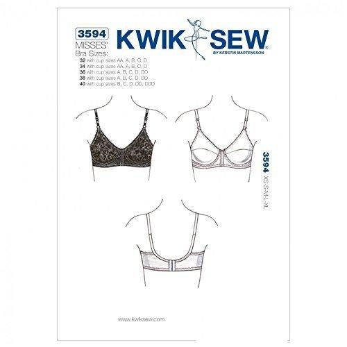 Kwik Sew Ladies Sewing Pattern 3594 Lingerie Bra by Kwik Sew