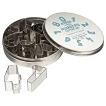 Ateco 7802 9-Piece Numbers Cutter Set
