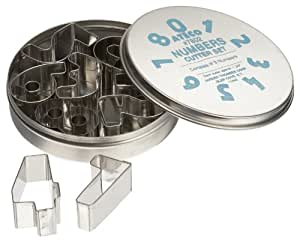 Ateco 9 Piece Numbers Cutter Set