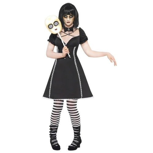 Creepy Doll Makeup Costume (Gothic Horror Doll Costume for Women (Medium))