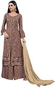 Ready to Wear Indian Bollywood Georgette Fabric Embroidered Ethnic Wear Palazzo Salwar Suit