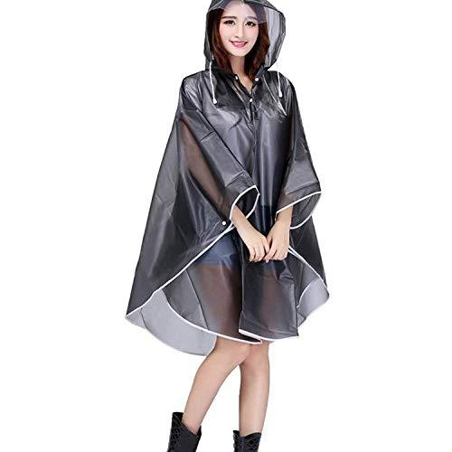 Marca Lluvia Chaqueta Capucha De Poncho Con Para Grau Mode Parka Bolawoo Impermeable Mujer 8a4nUP4