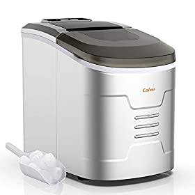 Colzer Portable Electronic Ice Maker Machine, Countertop Ice Maker,Make 9 Ice Cubes within 6-13 Minu