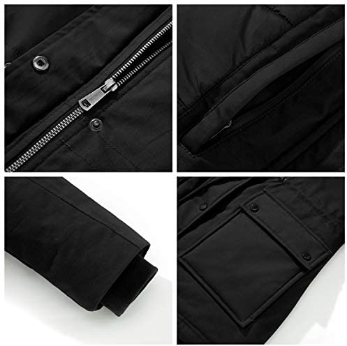 WenVen Women's Winter Waterproof Parka Coat Puffer Jacket with Removable Hood