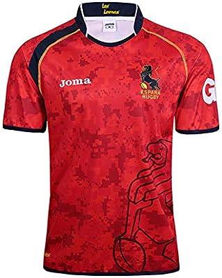 JUNBABY Camiseta De Rugby Español 2019,Camiseta De FúTbol Equipo Nacional España Hombre Camisa De Atleta-Red-L: Amazon.es: Deportes y aire libre