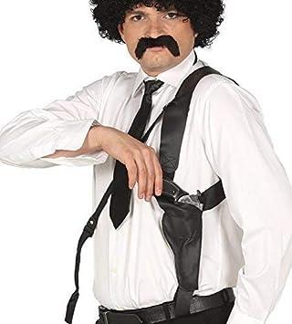 Fancy Me hombre estuche hombro con Negro Juguete Pistola Pistola ...